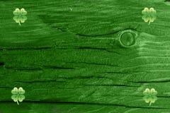 Grüner hölzerner Beschaffenheitshintergrund Heiliges Patrickâs Tag Hintergrund Str g Stockfoto