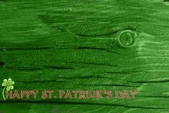 Grüner hölzerner Beschaffenheitshintergrund Heiliges Patrickâs Tag Hintergrund Str Grüne hölzerne Beschaffenheit Lizenzfreies Stockfoto