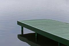 Grüner Ponton Stockfotos