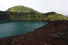 Grüner Hügel Island Stockfotografie