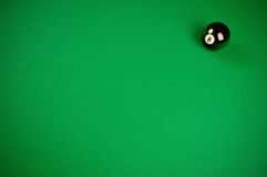 Grüner Hintergrund des Billiards Lizenzfreies Stockbild
