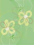 Grüner Hintergrund mit abstrakten Blumen. Lizenzfreie Stockfotos