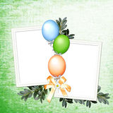 Grüner Hintergrund mit Ballonen Lizenzfreie Abbildung