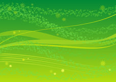 Grüner Hintergrund mit Blättern Lizenzfreies Stockbild