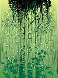 Grüner Hintergrund mit dem nassen Glas Lizenzfreie Stockfotos