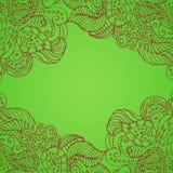 Grüner Hintergrund mit hellen Mustern Stockfotos