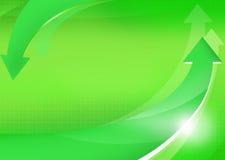 Grüner Hintergrund mit Pfeilen Lizenzfreies Stockbild