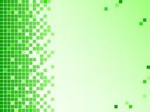Grüner Hintergrund mit Pixeln Lizenzfreie Stockfotos