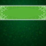 Grüner Hintergrund mit Shamrock vektor abbildung