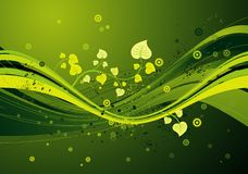 Grüner Hintergrund, Vektor Stockfotografie