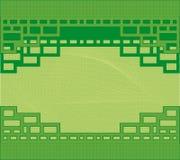 Grüner Hintergrund, Vektor Lizenzfreies Stockbild