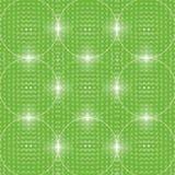 Grüner Hintergrund von glühenden Bällen Stockfotografie