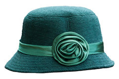 Grüner Hut getrenntes Weiß lizenzfreies stockbild