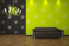 Grüner Innenraum Stockfotos