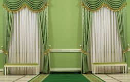 Grüner Innenraum Stockfoto