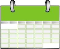 Grüner Kalender Lizenzfreies Stockfoto