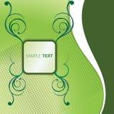 Grüner Kasten des Textes Stockbild