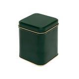 Grüner Kasten mit einem Goldstreifen Stockfoto