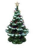 Grüner keramischer Weihnachtsbaum Stockfoto