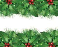 Grüner Kiefer Weihnachtshintergrund Lizenzfreies Stockbild