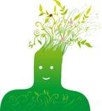 Grüner Kopf Lizenzfreies Stockfoto
