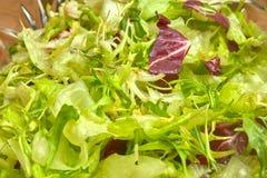 Grüner Kopfsalat verlässt Aufschnittnahaufnahme, -hintergrund und -beschaffenheit stockfotografie