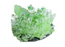 Grüner Kristall Stockfotos