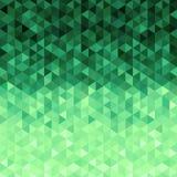 Grüner Kristallhintergrund Hintergrund des Vektor 3d Grüner Hintergrund von geometrischen Formnachahmungskristallen vektor abbildung