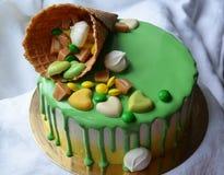 Grüner Kuchen Stockfotos
