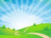 Grüner Landschaftshintergrund Stockfotos