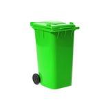 Grüner leerer Wiederverwertungsstauraum Stockbilder