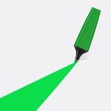 Grüner Leuchtmarkervektor Lizenzfreie Stockfotografie