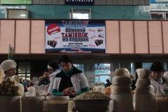 Grüner Markt in Almaty Stockbild