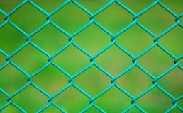 Grüner Maschendrahtzaun Lizenzfreies Stockfoto