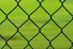 Grüner Maschendrahtzaun Stockfotos