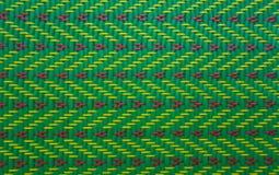 Grüner Mat Pattern Roi Et Thailand Stockfoto