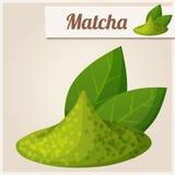 Grüner matcha Tee Ausführliche Vektor-Ikone Stockfoto