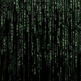 Grüner Matrixhintergrund stock abbildung