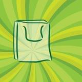Grüner mehrfachverwendbarer Beutel Lizenzfreies Stockbild