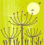 Grüner mit Blumenhintergrund Stockbilder