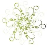 Grüner mit Blumenvektor Stockfotos