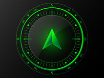 Grüner moderner Kompass lizenzfreie abbildung
