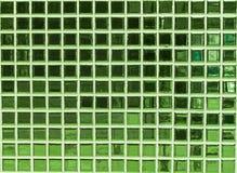 Grüner Mosaikhintergrund Lizenzfreies Stockbild