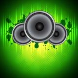 Grüner Musikhintergrund Lizenzfreies Stockbild