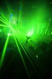 Grüner Nachtclub-Party-Hintergrund Stockfotos
