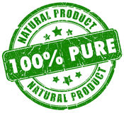 Grüner natürlicher Stempel Lizenzfreies Stockfoto