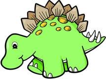 Grüner netter Dinosaurier lizenzfreie abbildung