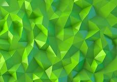Grüner niedriger Polyhintergrund Stockbild