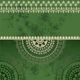 Grüner orientalischer Schmutzhennastrauch-Mandalahintergrund lizenzfreie abbildung