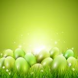 Grüner Ostern-Hintergrund stock abbildung